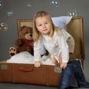 Mädchen mit Teddy Kinderfotoshooting - Kassel