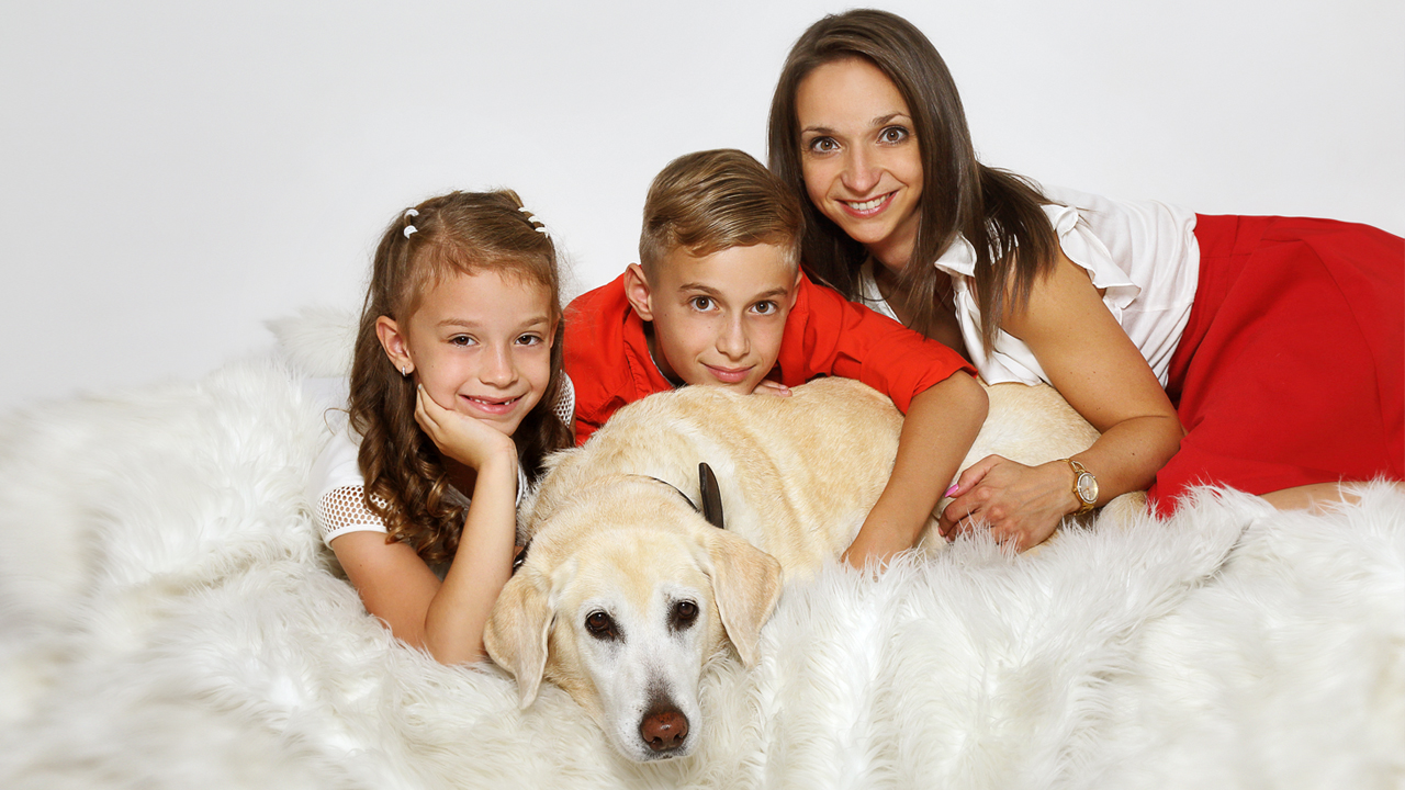 Familien Fotoshooting m it Hund