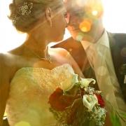 Hochzeitsfoto im Sonnenuntergang Orangerie Kassel